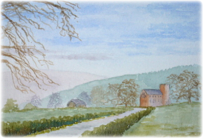learn Watercolour, watercolour tutorial, perspective, Lanercost