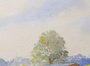 learn Watercolour, watercolour tutorial, near trees