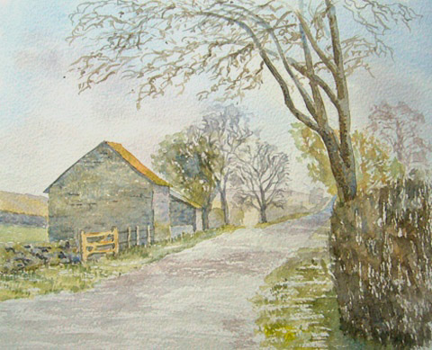 watercolour painting of Roman Road