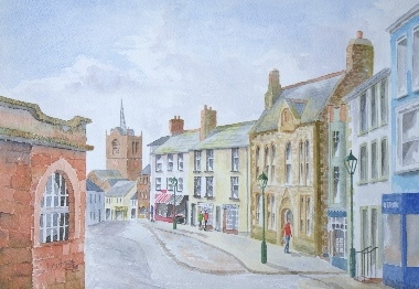 watercolour painting of Brampton, Cumbria